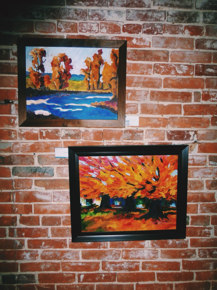 Painting done by talented artist are all for sale.