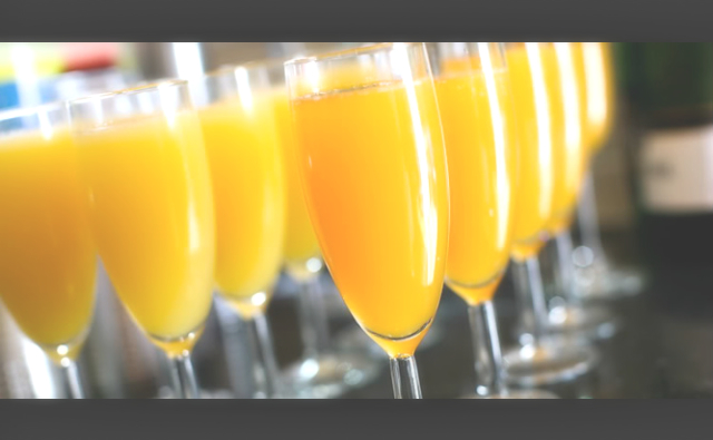 Mimosa Recipe: Equal Parts Orange Juice ( I used Simply Orange: No Pulp)  & Andre' Dry Champagne