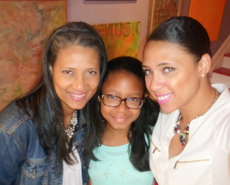 My mom & Sister